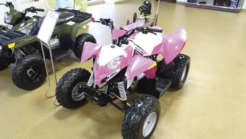 ATV Polaris konstrukcja n